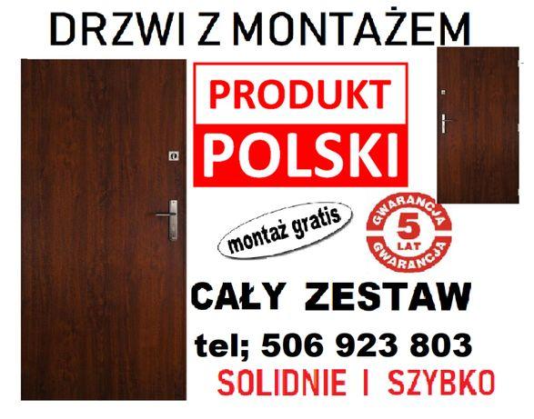 Drzwi do mieszkania w bloku-ZEWNĘTRZNE,antywłamaniowe z MONTAŻEM.