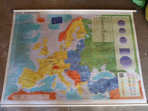Mapa geograficzna duża naścienna