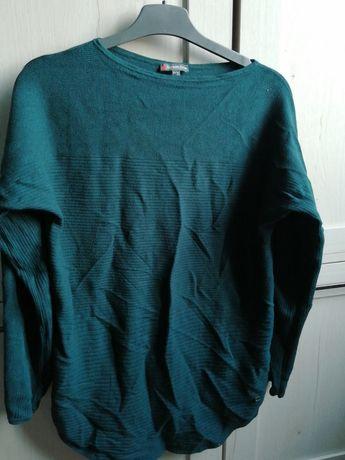 Ciepły sweter damski zielony