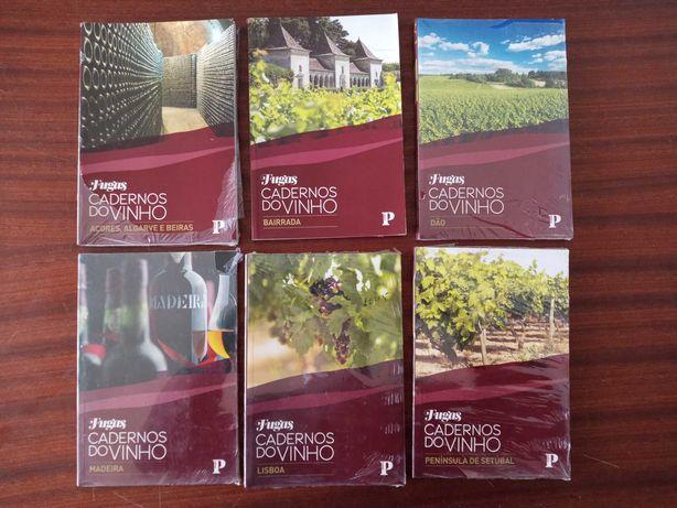 Cadernos de Vinhos de varias regioes