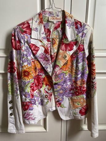 Casaco vintage tipo ganga floral