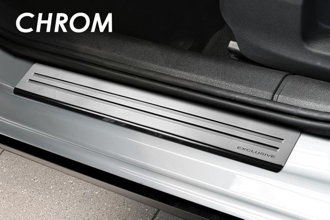Накладки на пороги хром Renault CLIO/KANGOO/KADJAR/KOLEOS/LAGUNA/ZOE