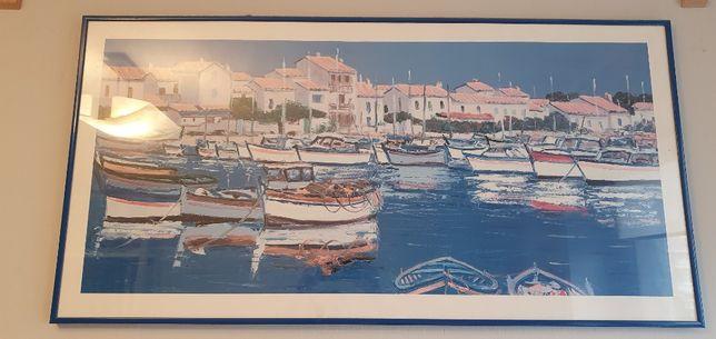 obraz: plakat łódki