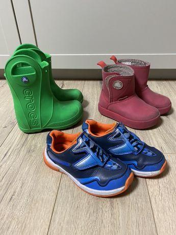 Crocs, Clarcs кросовки, сапоги резиновые