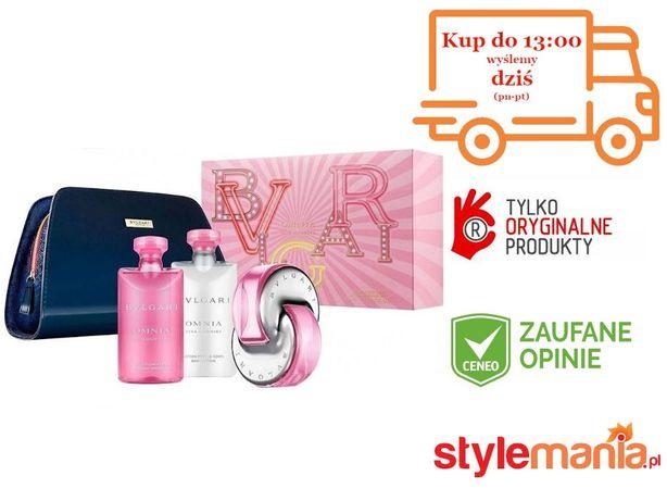 ZESTAW BVLGARI OMNIA PINK SAPPHIRE 65mlEDT+75 balsam+75 żel prysznic