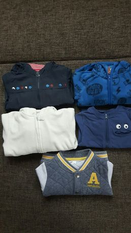 Bluzy i kurtki ciepłe r. 74/80