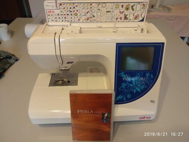 Maszyna do szycia hafciarka ELNA  oraz program PERLA 8800s