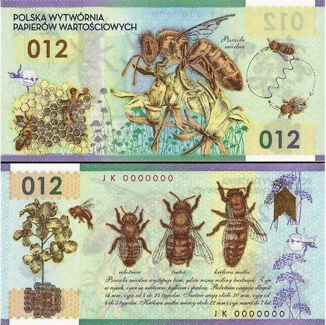 Pszczoła Miodna 012 - NOWY Banknot Testowy PWPW Polimer UNC Moneta Z