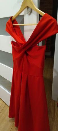 38 mohito sukienka czerwona idealna na walentynki opadające ramiona