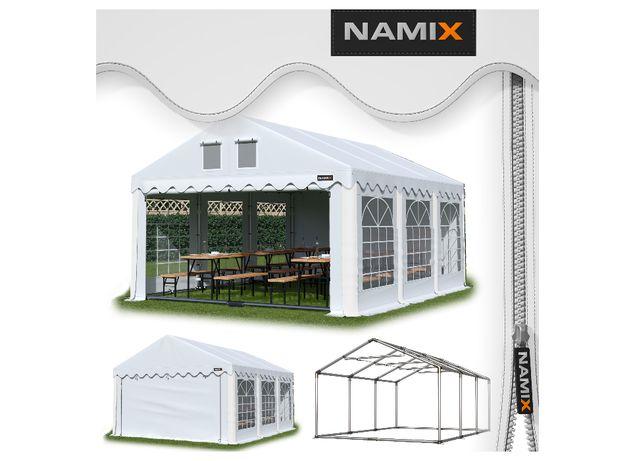 Namiot GRAND 4x6 ogrodowy imprezowy garaż wzmocniony PVC 560g/m2