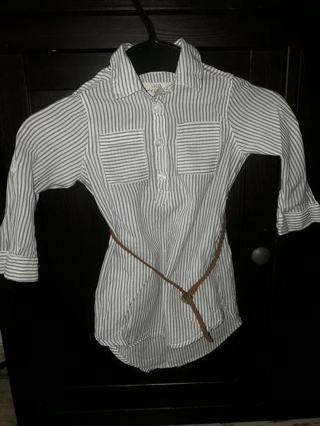 Bluzka tunika koszula h&m 92