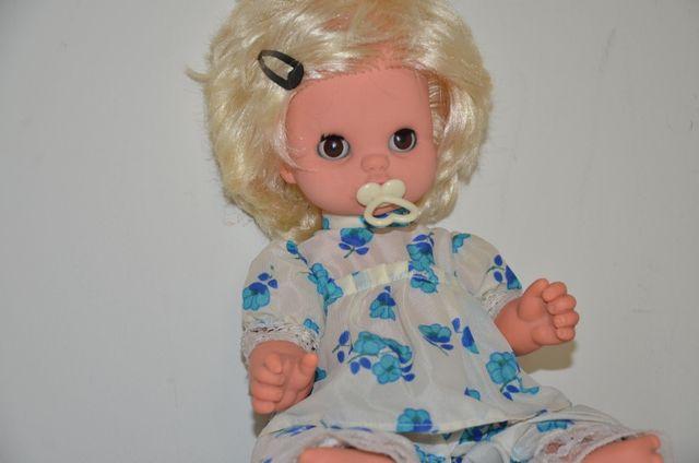 Lalka z PRL stara gumowa 34 cm