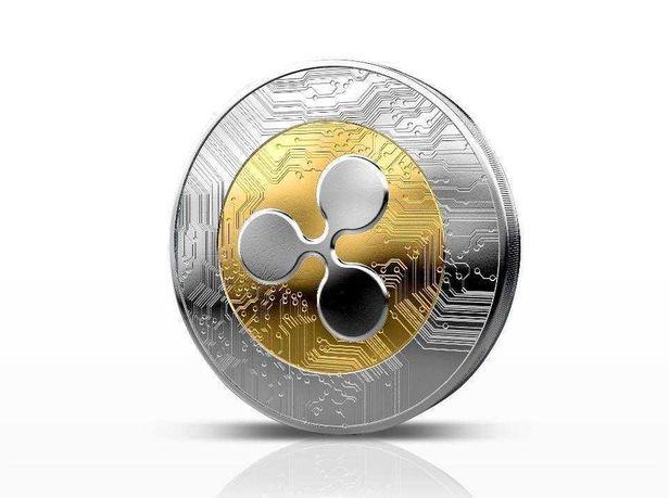Монета / Сувенир / Ripple / Сувенір / XRP позолота срібло