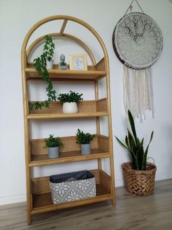Półka regał szafa Boho vintage loft retro plecionka bambus