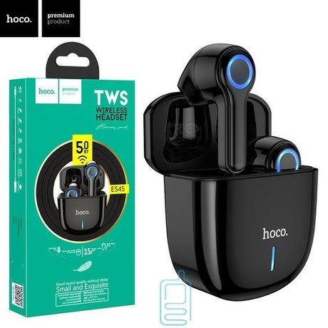 Наушники беспроводные Bluetooth HOCO ES45 в кейсе, черные