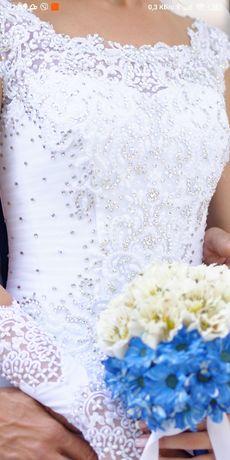 Пышное свадебное платье для принцессы