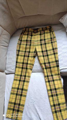 NOWE spodnie w kratkę, r.34/36 Zara