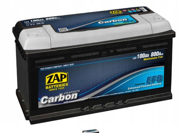 Akumulator ZAP Carbon EFB 100Ah 800A EN 12V Akumulatory START STOP
