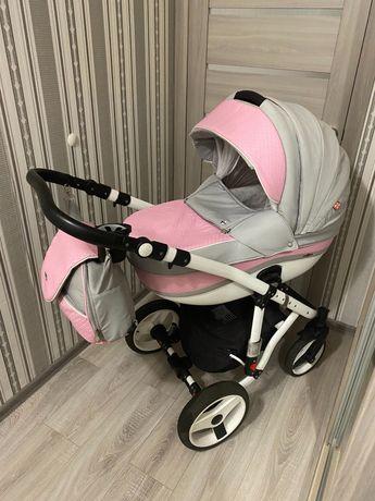 Коляска дитяча 2 в 1 Adamex Vicco 366s шкіра ( детская коляска)