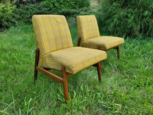 Fotele Celia typ 300-227 ZFM lata 60 70 PRL loft vintage retro