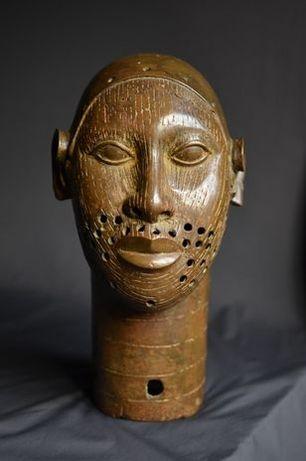 Głowa Ife rzeźba brąz Afryka Benin
