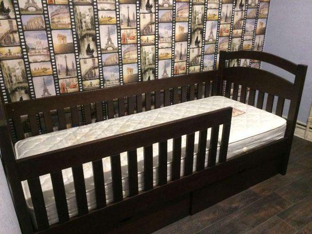 один-ярусная детская кровать Карина с дерева ольха