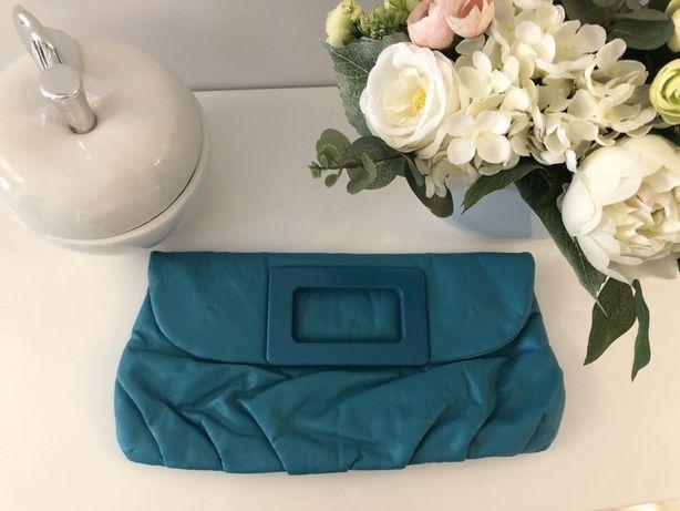 H&M niebieska torebka do ręki