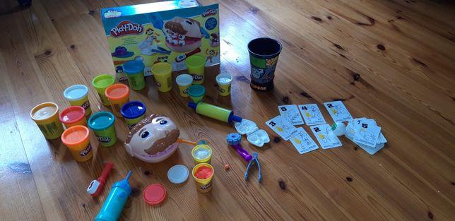 Zestaw Play-Doch Dentysta, dodatkowa ciadtolina i gra CUPONK