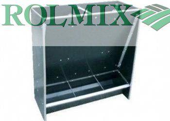 autokarmnik potrójny karmnik zasypowy z płyty PE - tzw plastikowy