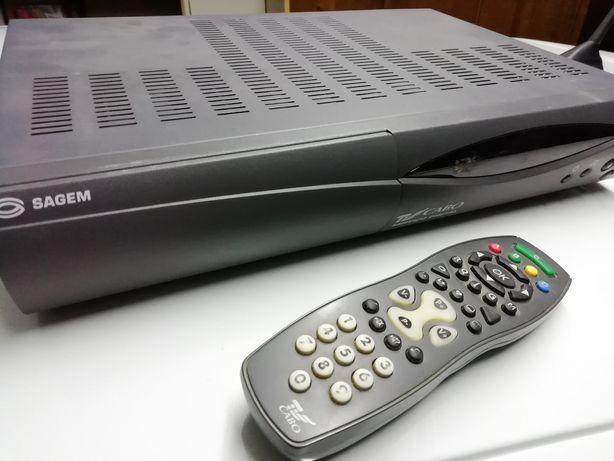 Box TV Sagem Satélite com 2 comandos