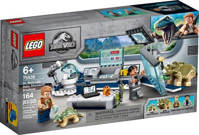 LEGO 75939 Jurassic World - Laboratorium doktora Wu: ucieczka mło Nowy
