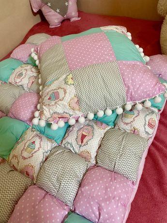 Красивый набор одеяло и подушка для малышки НОВЫЙ