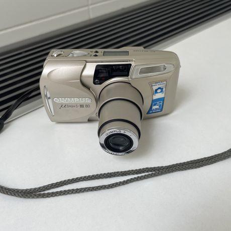 Пленлчный фотоаппарат olympus mju iii 80 / ii 2 3 камера 35мм