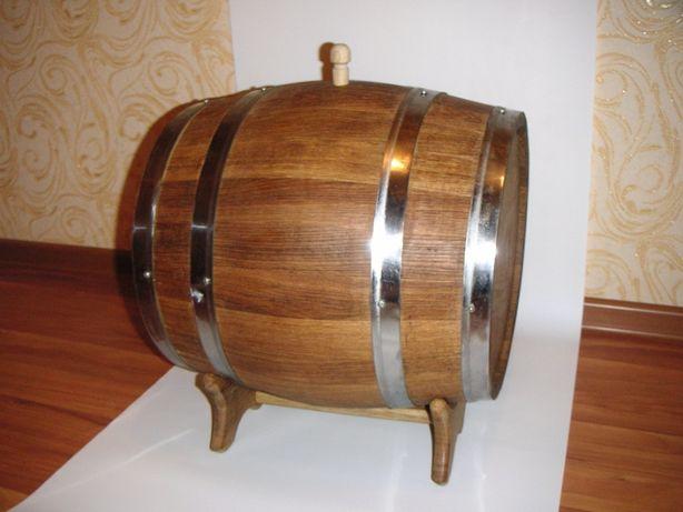 Бочка дубовая 30 л., для самогона, вина, виски, коньяка, бренди