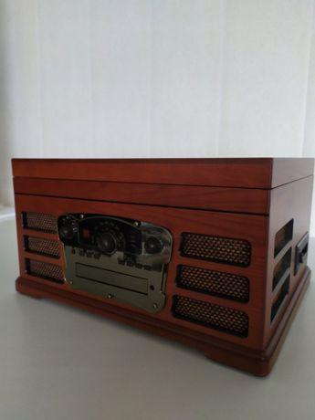 Gramofon retro FM/CD/AUX/MAGNET.