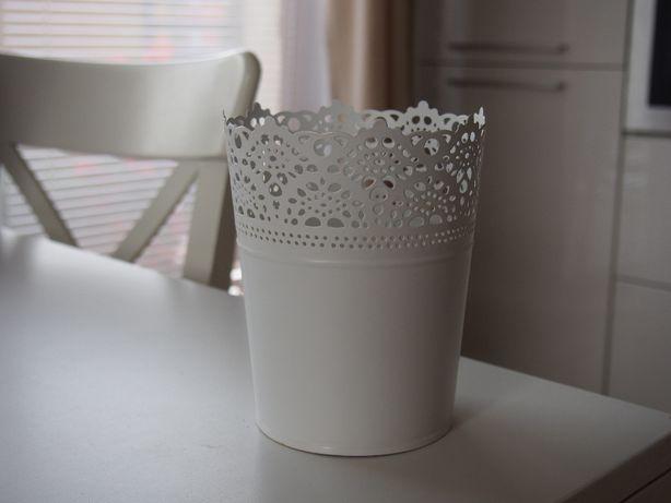 SKURAR Osłonka doniczki, doniczka IKEA, biały-kremowy