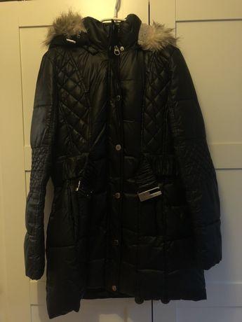 kurtka/płaszcz zimowa z futerkiem