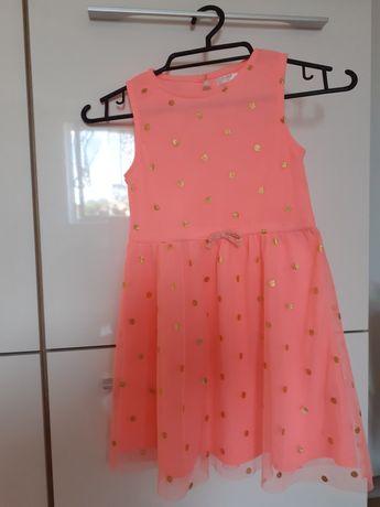 Śliczna różowa sukienka rozm.128