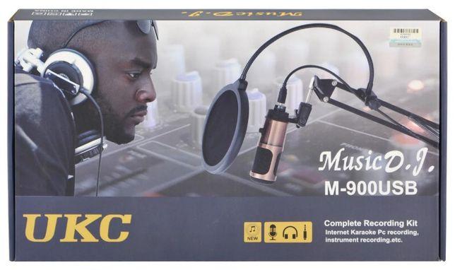 Music D.J - студийный M900U. Микрофон, со стойкой + поп-фильтр