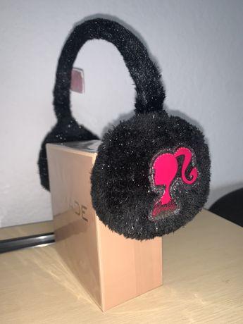 Disney Barbie Nauszniki dziewczęce czarno srebrno różowe jakSłuchawki