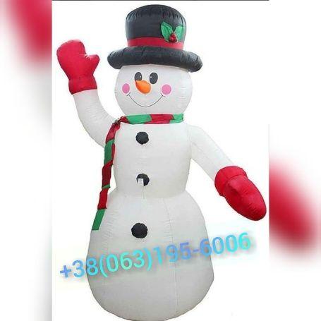 """Надувная Новогодняя Фигура """" Снеговик"""" Одесса - изображение 1"""