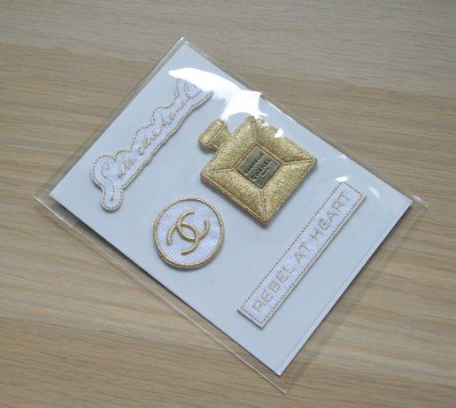 Chanel Gabrielle 4 naklejki na ubrania z materiału unikat nowe