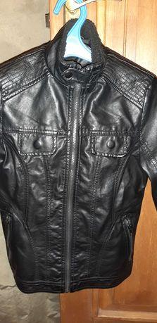 Куртка кожзам, унисекс, для подростка р. 146-158