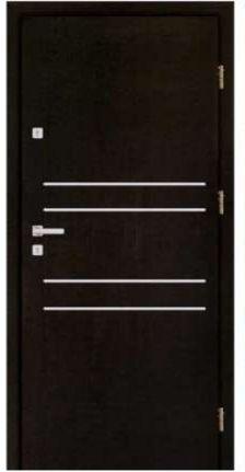 Polskie drzwi z ozdobnymi paskami, z gwarancją