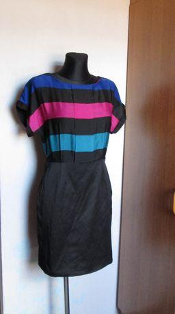 Orsay śliczna sukienka z koorowymi pasami r. 38/40