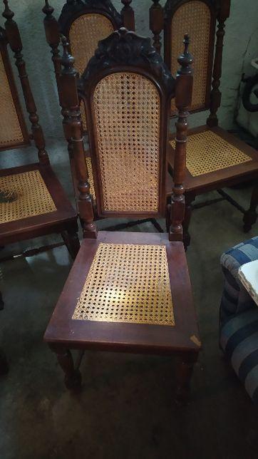 Sprzedam 5 krzeseł (antyki)