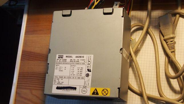 Zasilacz komputerowy Astec Model AA20610 dla IBM, 1999 rok.