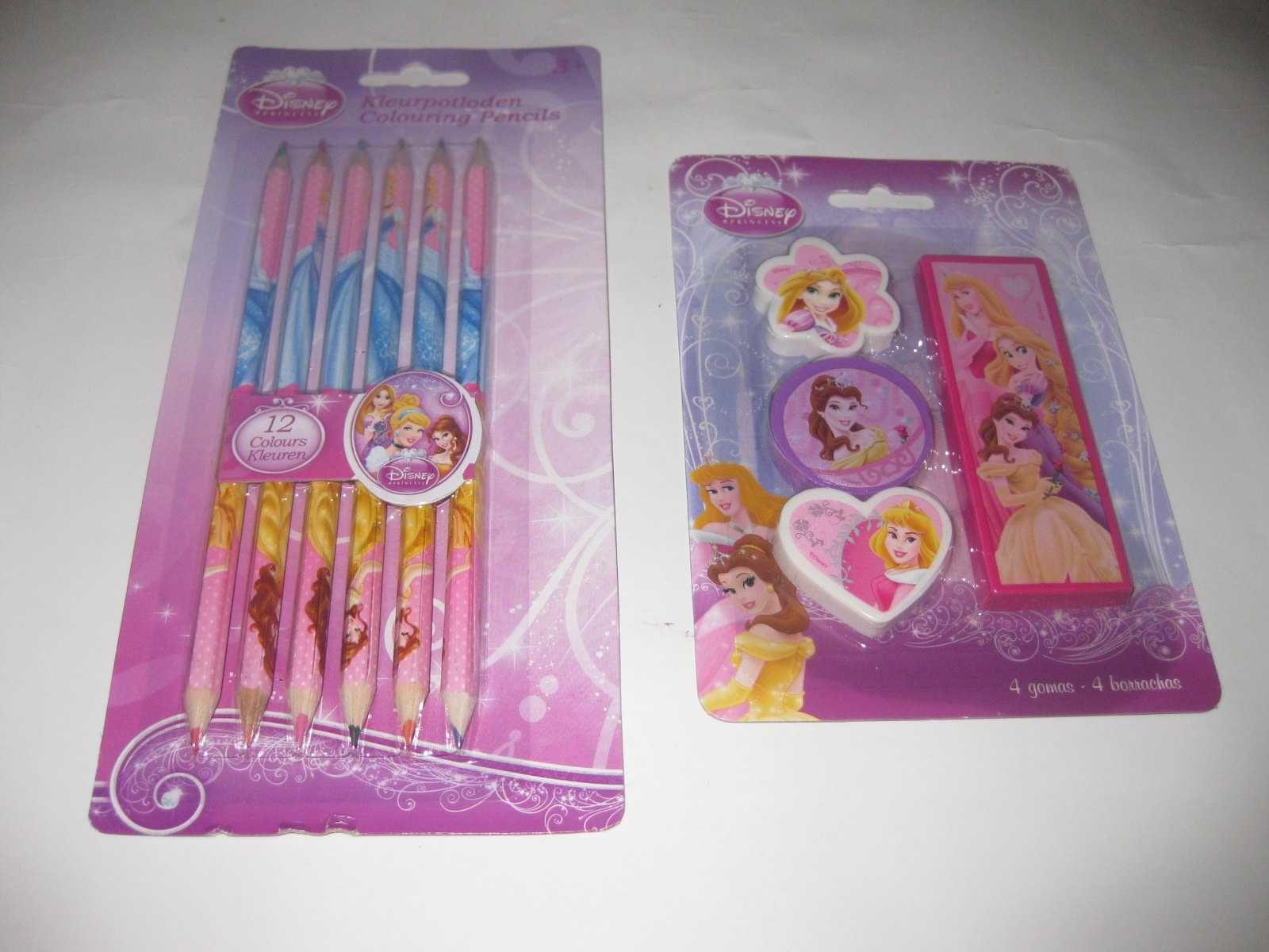 "2 Kits Escolares das ""Princesas da Disney"" Selados!"