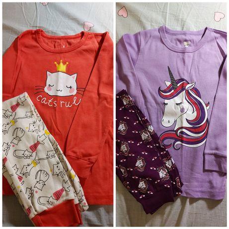 Пижамы трикотажные девочке 6-8 лет, 120-128 см
