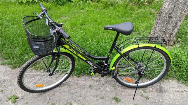 Городской Велосипед Mustang Sport 26 с женской рамой Черно-Зеленый